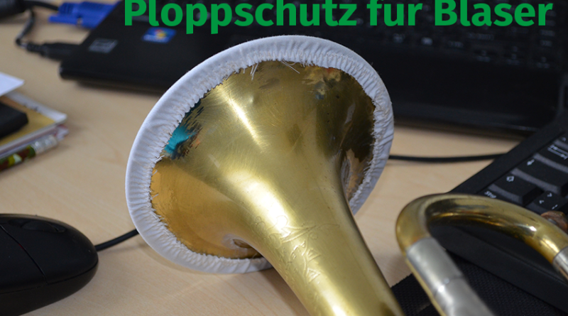 Ploppschutz Bläser TrompetBastelanleitung Corona Volksmusikerbund NRW
