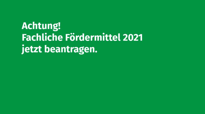 Fachliche Fördermittel 2021 Deadline Volksmusikerbund NRW